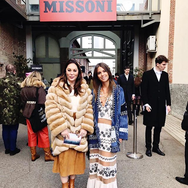 Going to Missoni fashion show. Fur coat by @simonettaravizza_official. #missoni #MFW #Verber #АллаВербер #MissoniFW17 #