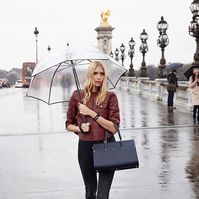 Walking in the rain is always so romantic with @longchamp On my way to brand's flagship opening in GUM