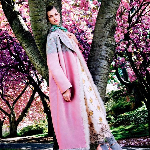 #tbt Posing in Pink @voguejapan  august 2013 issue  shoot by @sharifhamza style by me , model @bette_franke in @louisvuitton  #batgioatwork