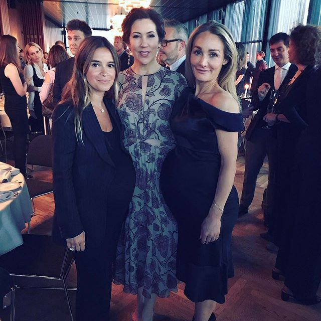 Princess Mary of Denmark in between the four of us...   #EvaKruse @copenhagenfashionsummit
