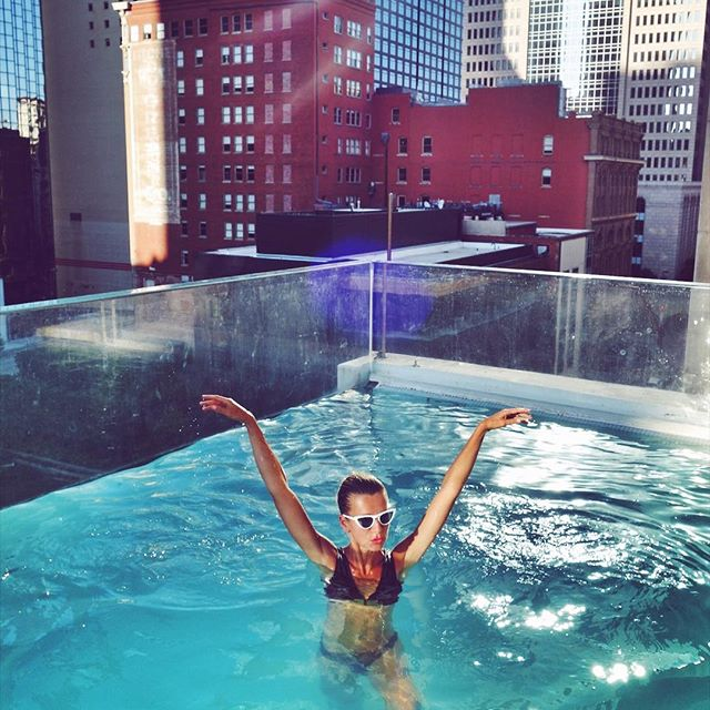 August is like the Sunday of summer...    #fbf #tgif #pool #swim #thejoule #nataliejoos #gigihadid