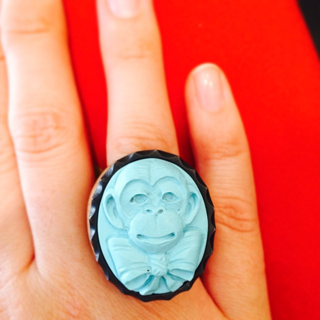 #monkey #cameo #ring by @amedeonyc is #love