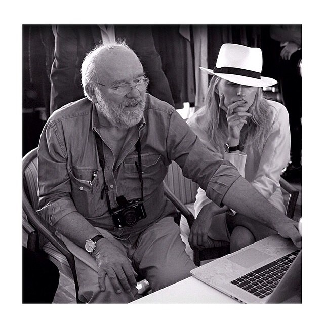 #BTS with @therealpeterlindbergh for the @harpersbazaarmx October cover shoot. @brendlv #regram #PeterLindbergh