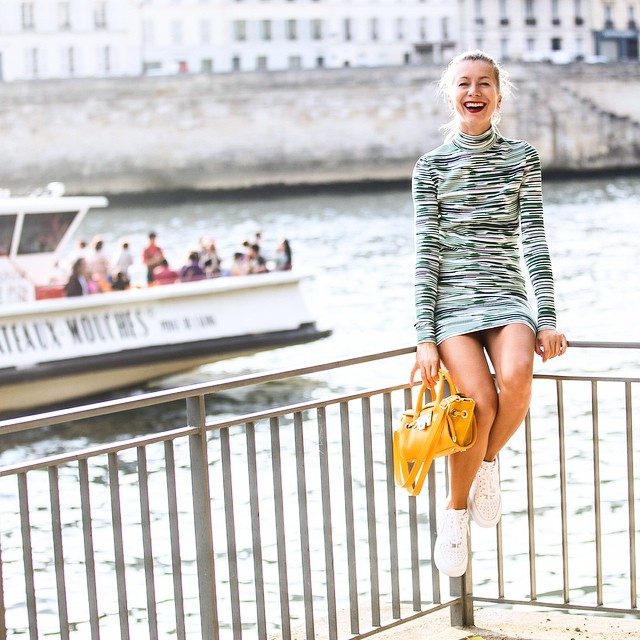NEW POST on http://talesofendearment.com: an ode to vintage varsity, gay Paris and Sporty Spice!  #lookoftheweek #talesofendearment #vintage #varsity #paris #seine #nike #stellmccartney #dress #green #fashion #sportyspice #http://talesofendearment.com Photos by @sandrasemburg