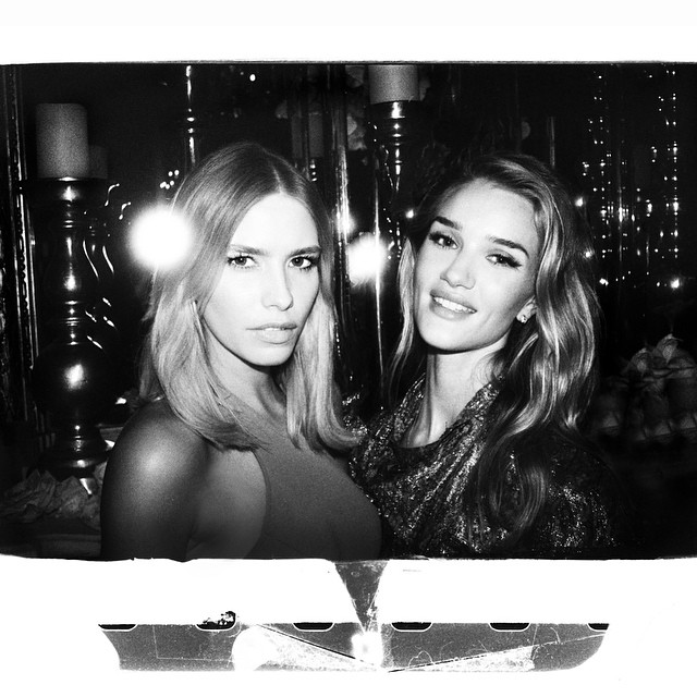 What a party it was!  Like a film frame by @GermanLarkin (always great pics darling !!!) from @juliarestoinroitfeld and @stuartweitzman party in Paris with gorgeous @rosiehw ️