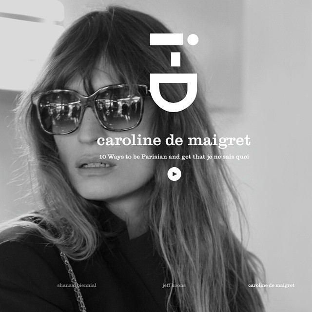 we love the @id_magazine homepage with @carolinedemaigret wearing the #thierrylasry #sunglasses #RAPSODY ...