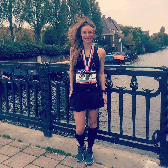 Just do it! 21 km -1:48:38 min Amsterdam Half-marathon.  Thank u, my @protrenerstudio team for support and training!