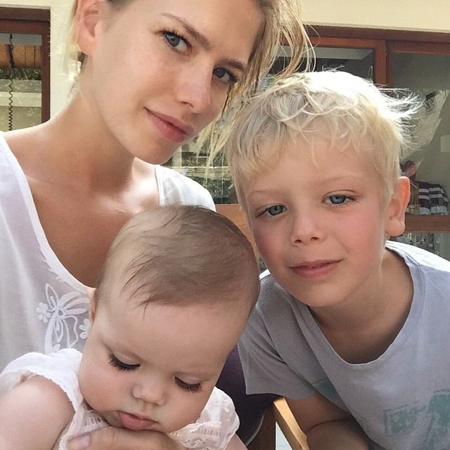 Morning #selfie ️ impossible to get all three kids together at the same time!! Egor #watermelonboy is always on the move