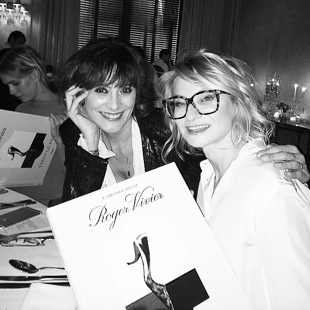 With @inesdelafressangeofficial in #baccarat #restaurant in #Moscow - @rogervivier #booksigning in process
