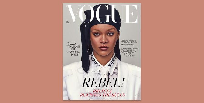 Рианна примерила дюраг для обложки британского Vogue
