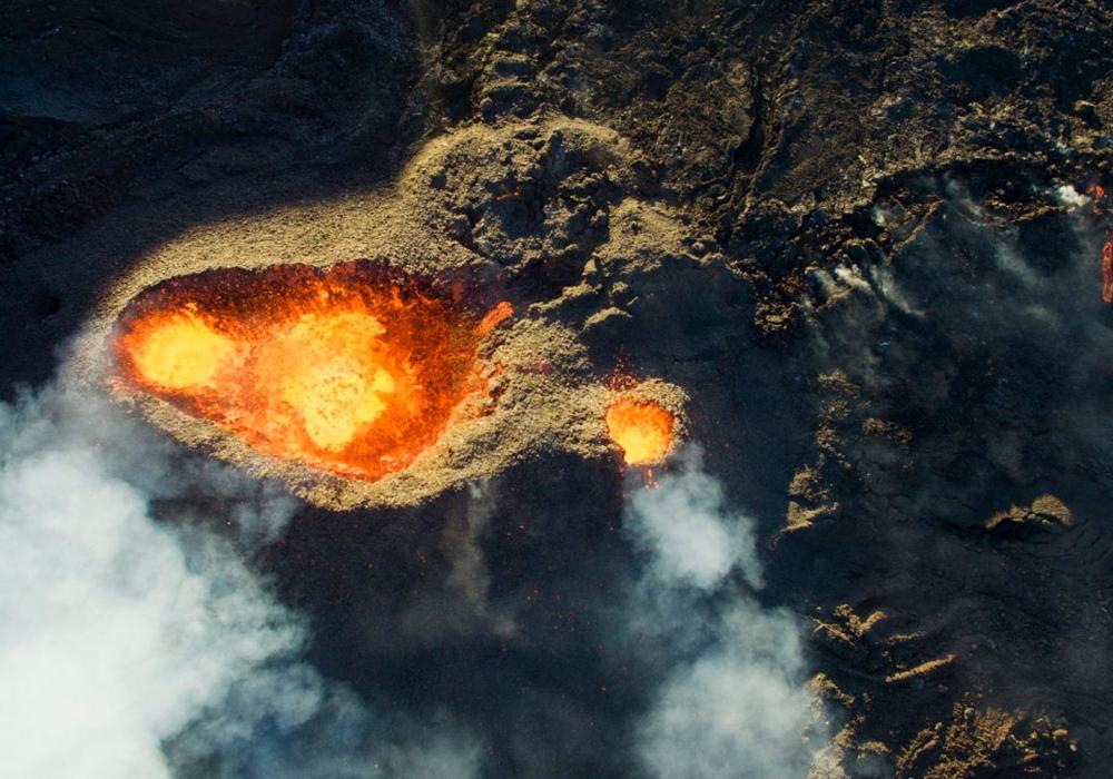 Вулкан на Реюньоне (DroneCopters)
