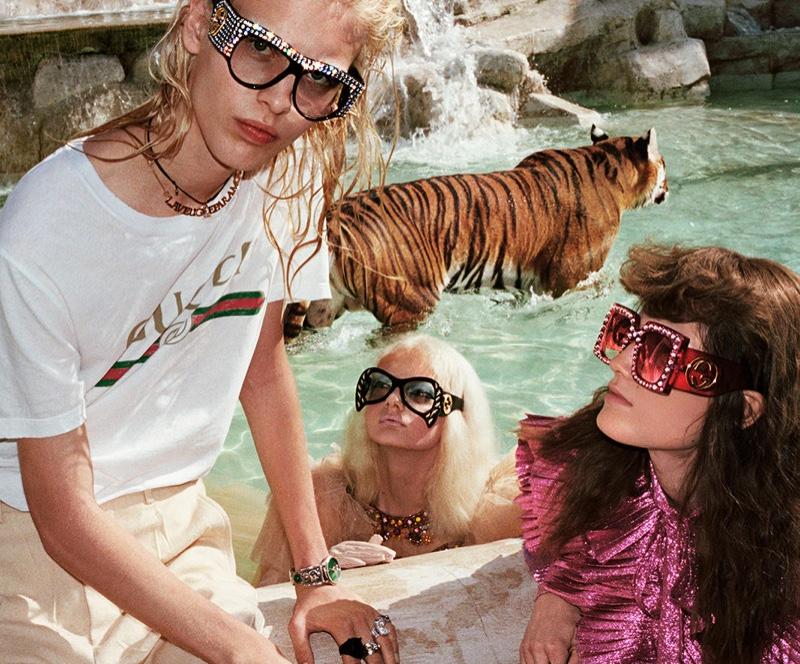 Gucci и сюрреализм: тигры и Рим. Фотограф: Глен Лучфорд