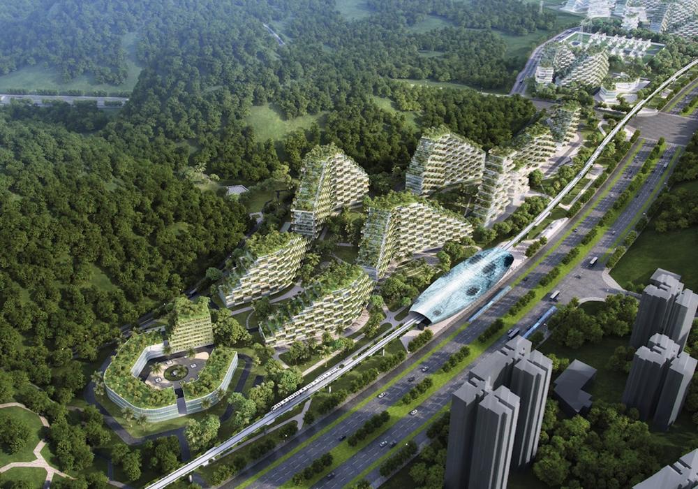 В Китае построят вертикальный «город-лес»