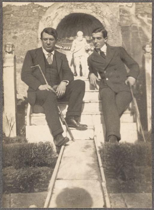 Пабло Пикассо и Леонид Мясин, сфотографированные Жаном Кокто