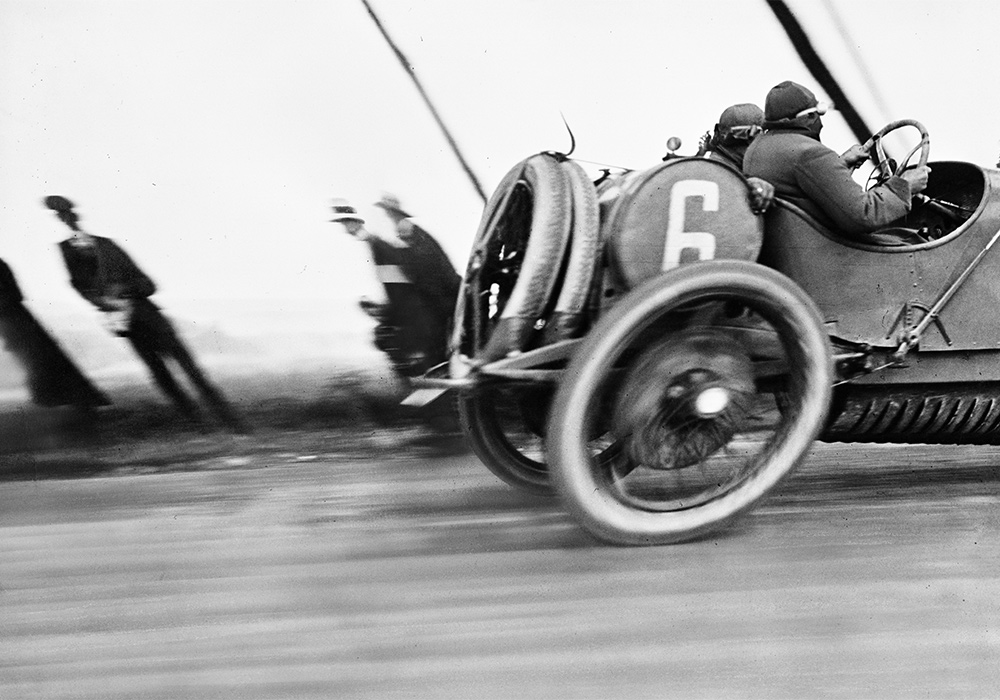 Jacques Henri Lartigue, Une Delage au Grand Prix de l'Automobile Club de France, circuit de Dieppe, June 26, 1912