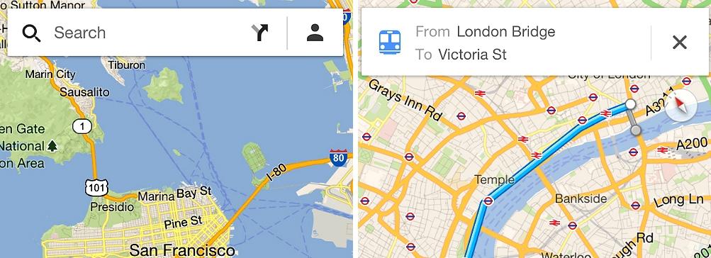 Google выпустил новые карты для iPad и iPhone