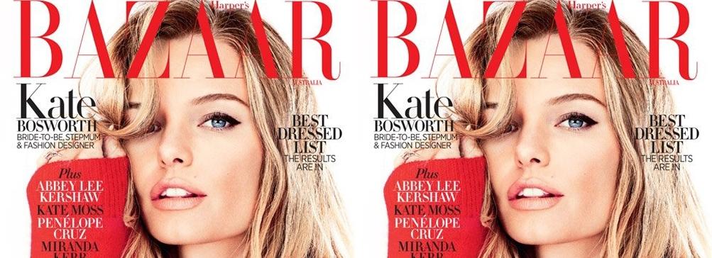 Кейт Босуорт на обложке январского Harper's Bazaar
