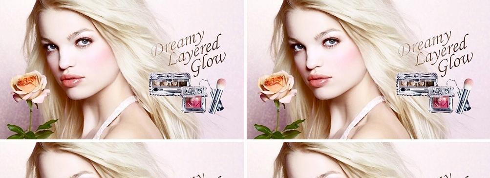 Дафна Грюнвельд в рекламе косметики Jill Stuart