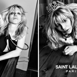 Кортни Лав для Saint Laurent