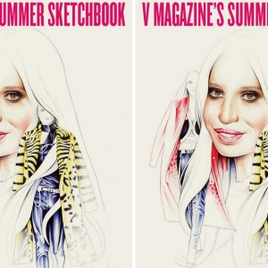 Drawn to Fashion — скетчбук от V Magazine