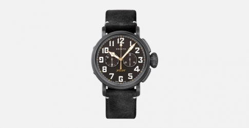 Zenith представил часы Pilot Type-20 Chronograph Ton Up Black на мотопробеге Distinguished Gentleman's Ride