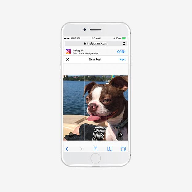 Обновлена мобильная версия веб-ресурса социальная сеть Instagram