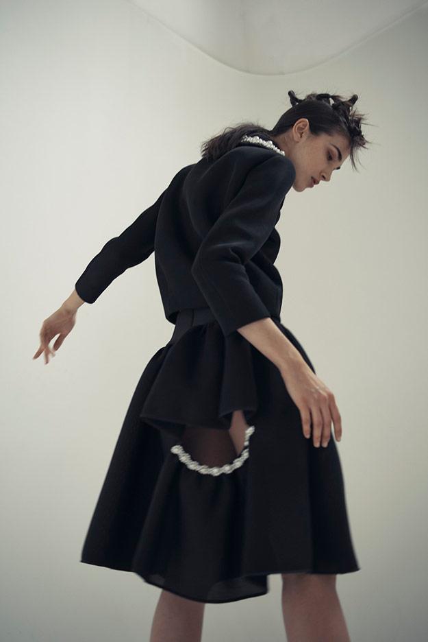 Симон Роша выложила лекала своей «жемчужной» юбки