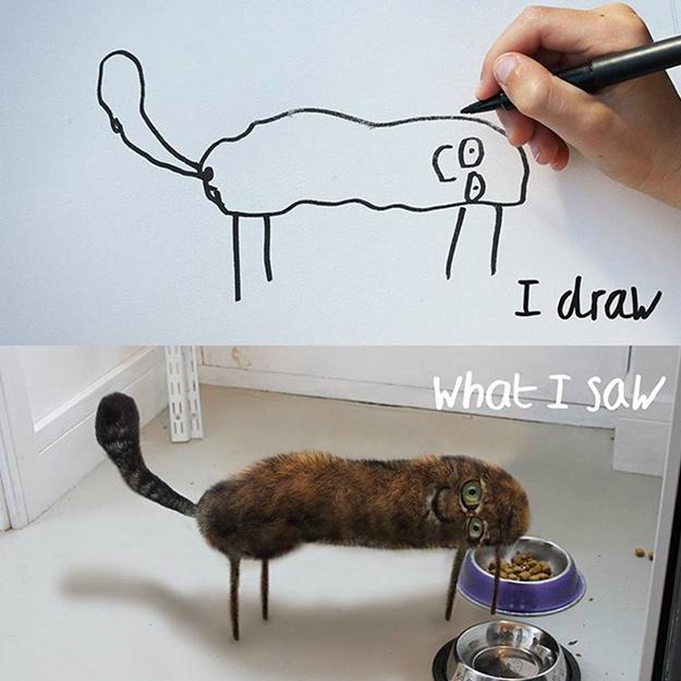 Художник оживил детские рисунки