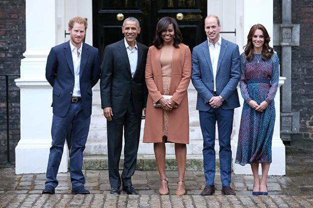 После ванны — на встречу с Обамой: принц Джордж поприветствовал президента США