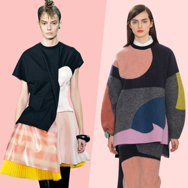 In/Out: color blocking VS вещи-коллажи