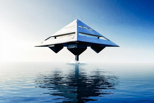Проект яхты-пирамиды от лондонского архитектора