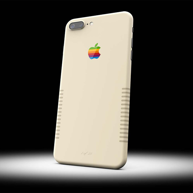 iPhone 7 Plus раскрасили в стиле старых компьютеров Macintosh