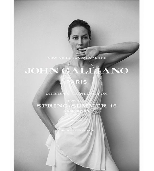 Первая рекламная кампания John Galliano после перезапуска