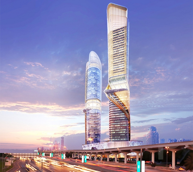 В Дубае построят отель с тропическим лесом на открытых этажах