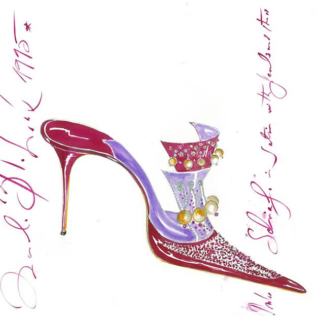 Маноло Бланик исполнил «настоящую мечту» иоткрыл выставку туфель вЭрмитаже Петербурга