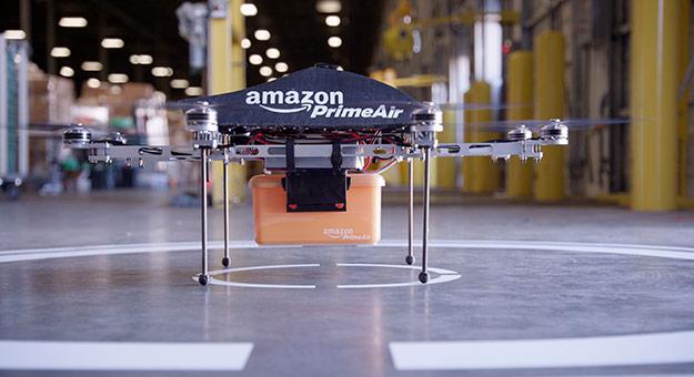 Amazon патентует летающую систему хранения и доставки товаров
