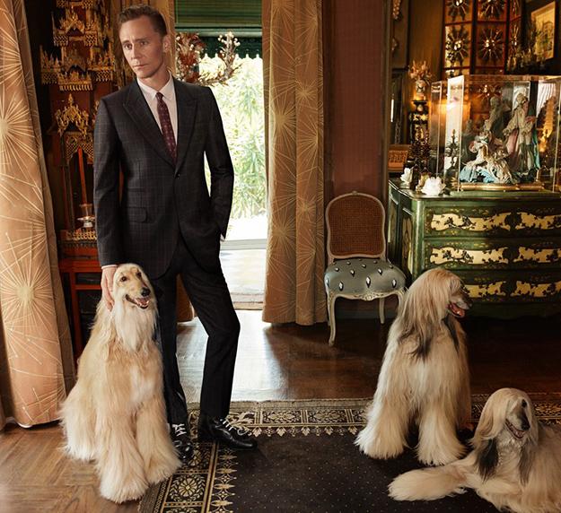 Том Хиддлстон снялся встильной фотосессии для Gucci