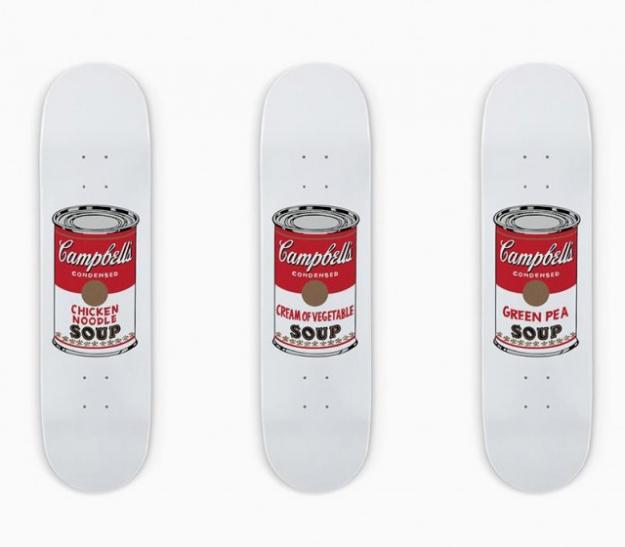 MoMA представит скейтборды по мотивам работ Энди Уорхола
