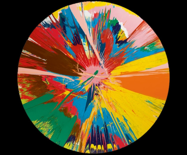 Damien Hirst, Beautiful, shattering, slashing, violent, pinky, hacking, sphincter painting, 1995