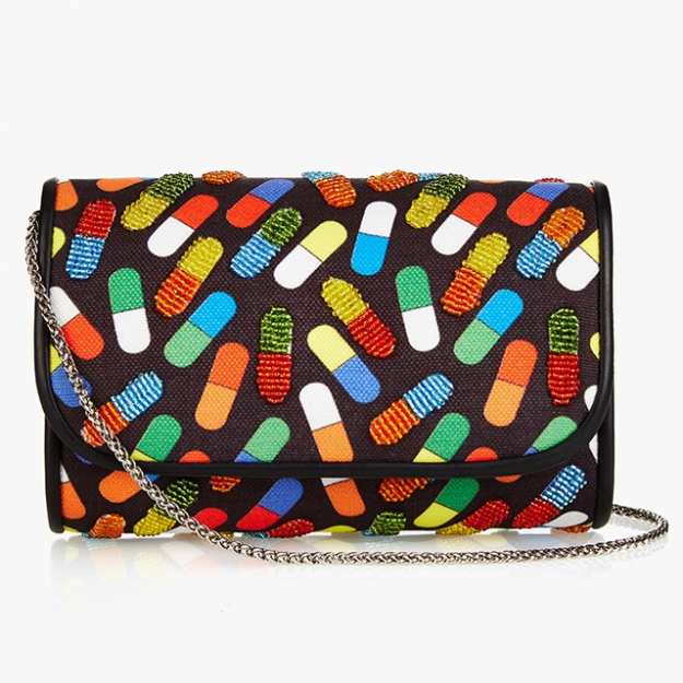 "Sarah's Bag<p><a target=""_blank"" href=""http://www.matchesfashion.com/intl/products/Sarah%27s-Bag-Pop-Pill-bead-embellished-clutch%09-1038686"">matchesfashion.com</a></p>"