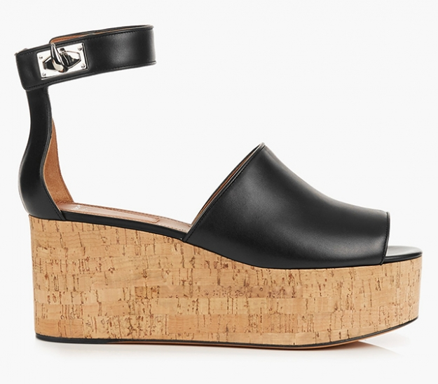 "Givenchy<p><a target=""_blank"" href=""http://www.matchesfashion.com/intl/products/Givenchy-Rinny-leather-flatform-wedge-sandals-1046585"">matchesfashion.com</a></p>"