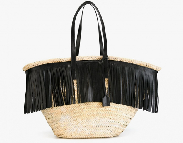 "Saint Laurent<p><a target=""_blank"" href=""http://www.farfetch.com/uk/shopping/women/saint-laurent-fringed-straw-tote-item-11219947.aspx?storeid=9851&from=search&ffref=lp_pic_28_2_"">farfetch.com</a></p>"