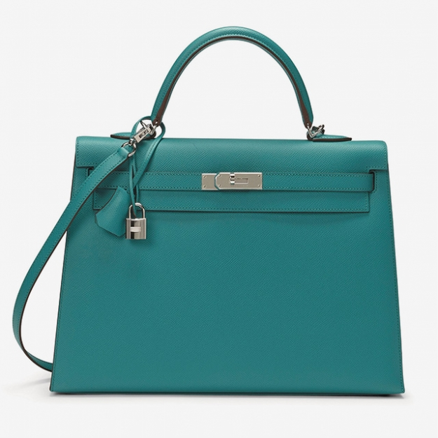 KELLY SELLIER 32 ИЗ КОЖИ EPSOM ЦВЕТА BLEU PAON С ПАЛЛАДИЕВОЙ ФУРНИТУРОЙ HERMÈS, 2008 EUR 5,000 - 7,000