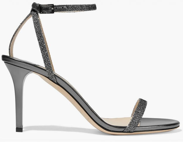 "Jimmy Choo<p><a target=""_blank"" href=""https://www.net-a-porter.com/ua/en/product/655134/jimmy_choo/minny-textured-lame-and-metallic-leather-sandals"">net-a-porter.com</a></p>"