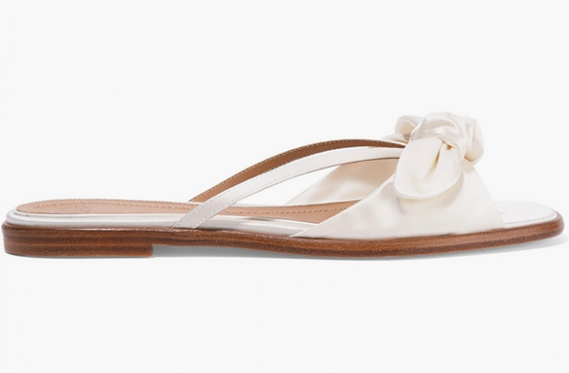 "The Row<p><a target=""_blank"" href=""https://www.net-a-porter.com/ua/en/product/709772/the_row/april-bow-embellished-silk-satin-sandals"">net-a-porter.com</a></p>"