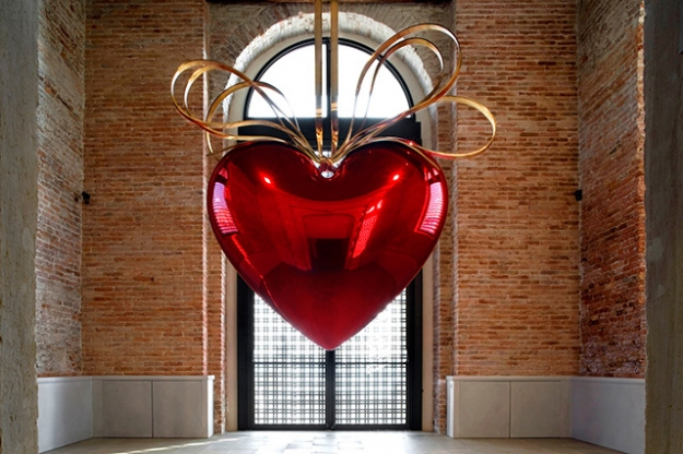 Джефф Кунс. Hanging Heart (Red/Gold), 1994-2006