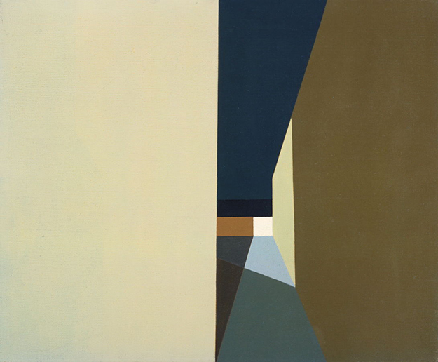 """Night Lights and Shadows"", Helen Lundeberg, 1959"