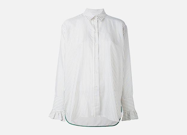 "Рубашка, Paul Smith<p><a target=""_blank"" href=""https://www.farfetch.com/ru/shopping/women/paul-smith---item-12070084.aspx?storeid=10293&from=search"">Farfetch</a></p>"