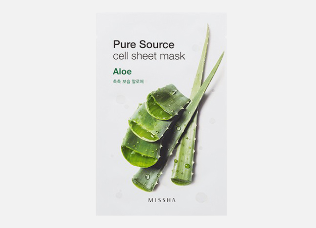 Pure Source Cell Sheet Mask Aloe от Missha, 230 руб.