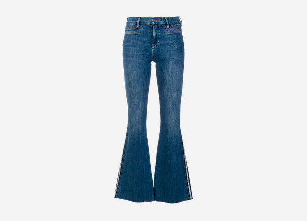 "Джинсы M.i.h Jeans<p><a style="""" target=""_blank"" href=""https://www.farfetch.com/uk/shopping/women/mih-jeans-marrakesh-flared-jeans-item-12527399.aspx?storeid=10134&from=listing"">Farfetch</a></p>"